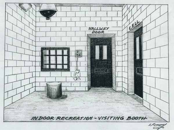 Indoor Recreation Room of Thomas Silverstein's Prison Cell